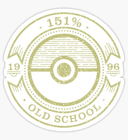 151% Old School Sticker