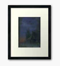 House at dusk Framed Print