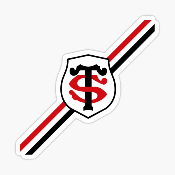 Stade Toulousain Rugby Black and red diagonal stripes Sticker