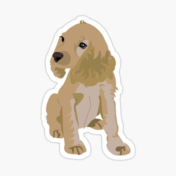 English Cocker Spaniel is all about love. Sticker