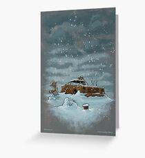 Snow on the Rez III Greeting Card