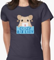 CUTE crazy rat lady (in cream colour) T-Shirt