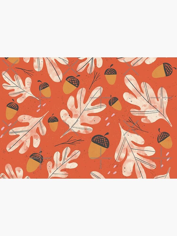 Vintage acorns and oak leaves pattern by GabiToma