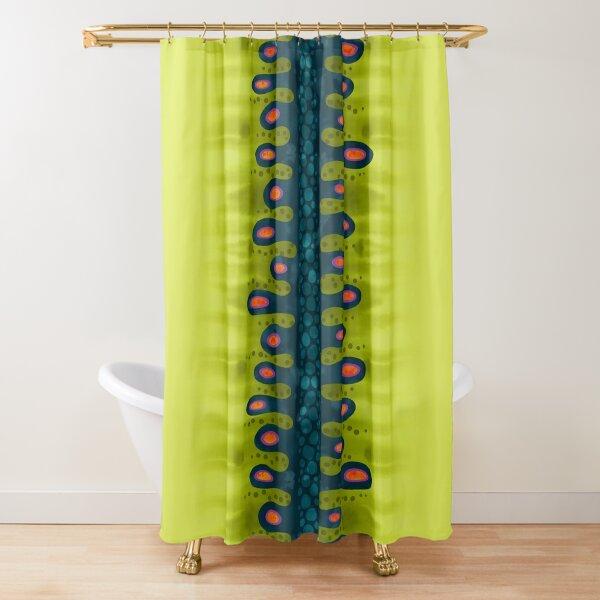 Blue Organic Slurp Shower Curtain