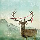 hold deer tsunami by Vin  Zzep