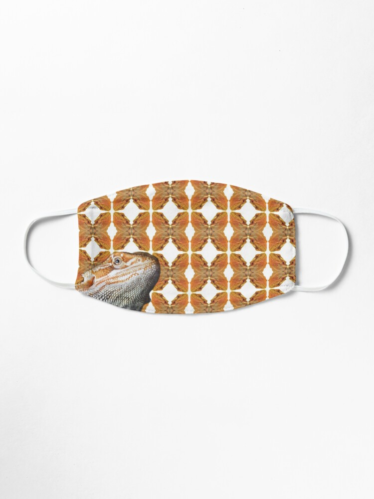 Alternate view of Bearded Dragon Patterned Background With Beardie Head Mask