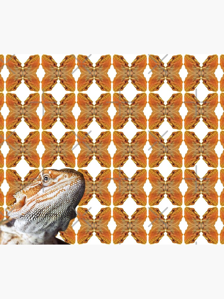 Bearded Dragon Patterned Background With Beardie Head by snibbo71