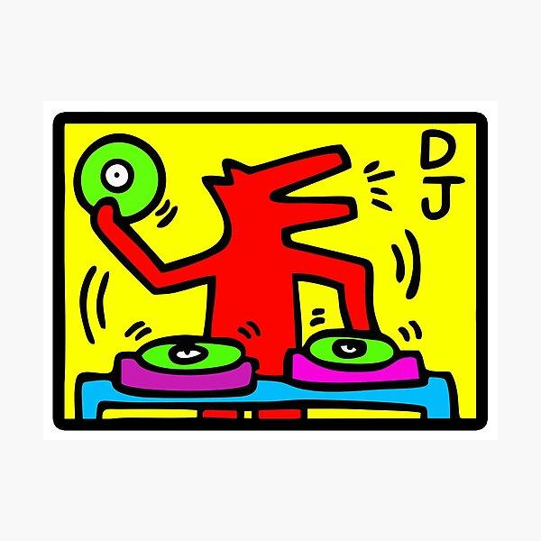 Keith Haring - DJ / 1988 / Talking Heads / Abstract / Pop Art Fotodruck