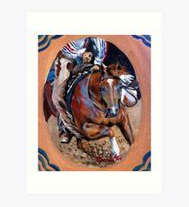 Quarter Horse Cutting Horse Art Print