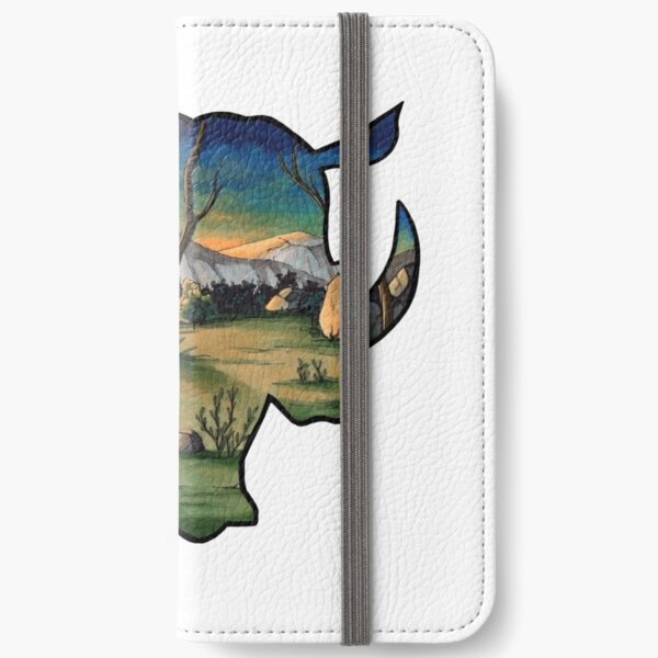 #saveourplanet for the rhinos iPhone Wallet