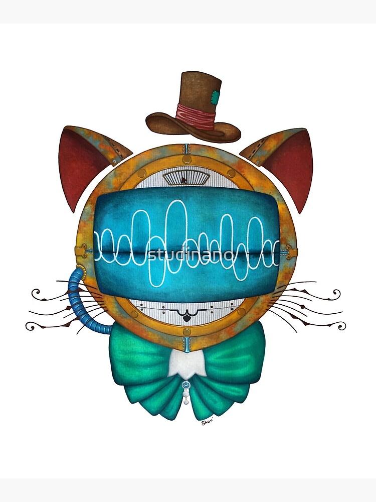 Shoupignon the robot-cat steampunk by studinano