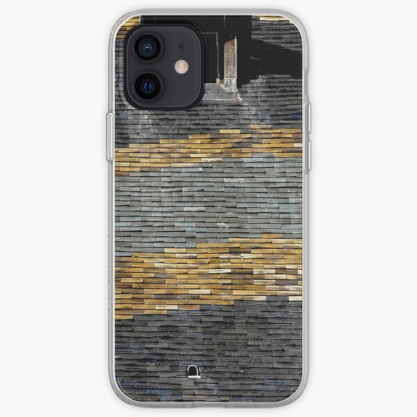 Traditional roof tiles in Burgundy make waves iPhone Soft Case