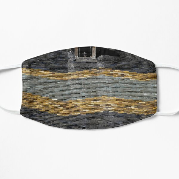 Traditional roof tiles in Burgundy make waves Flat Mask