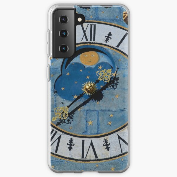 Ancient astronomical clock in Burgundy Samsung Galaxy Soft Case
