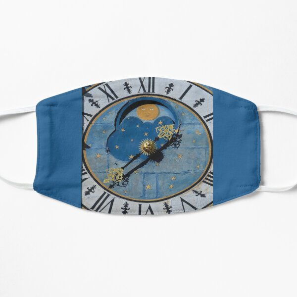 Ancient astronomical clock in Burgundy Flat Mask