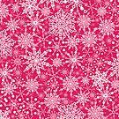 Doodle snowflakes pattern by oksancia