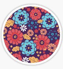 Colorful bouquet flowers pattern Sticker