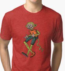 City hipster monkey green Tri-blend T-Shirt