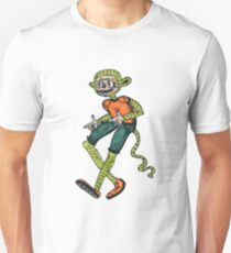 City hipster monkey green Unisex T-Shirt