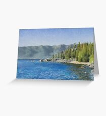 Chimney Beach Plein-air Study Greeting Card