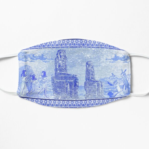 Egyptian Blue and White Colossi of Memnon (SPODE INSPIRED) Mask