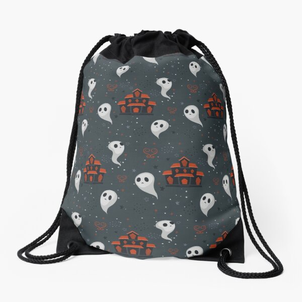 HALLOWEEN PATTERN,HAPPY HALLOWEEN PATTERN,GHOST,WITCH Drawstring Bag