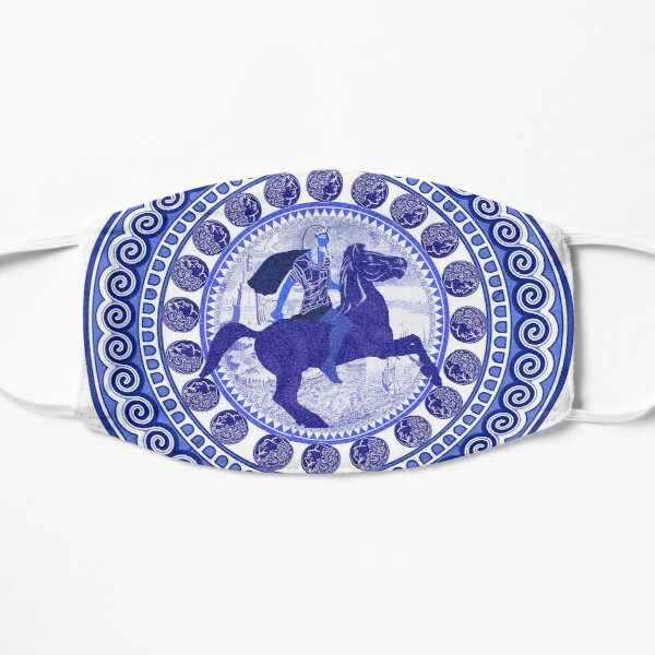 Egyptian Blue and White Alexander the Great (SPODE INSPIRED) Mask