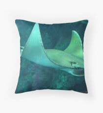 Flying Under Water Throw Pillow