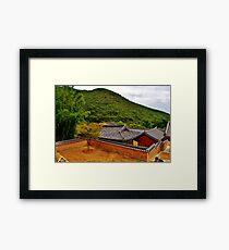 Korean Temple Framed Print