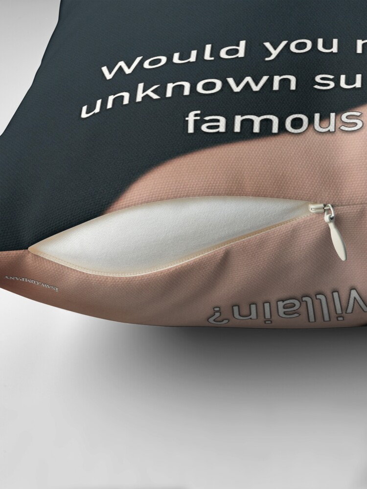 Alternate view of Would You Rather Be An Unknown Superhero or a Famous Villain Floor Pillow