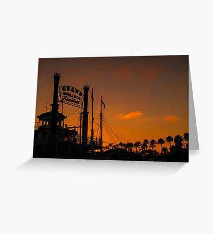 Romance at sunset Greeting Card
