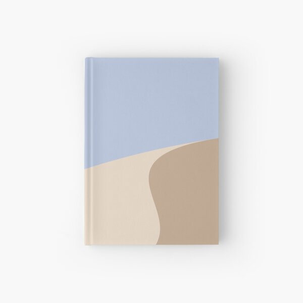 Minimalist yellow Sand Dune Desert Hardcover Journal