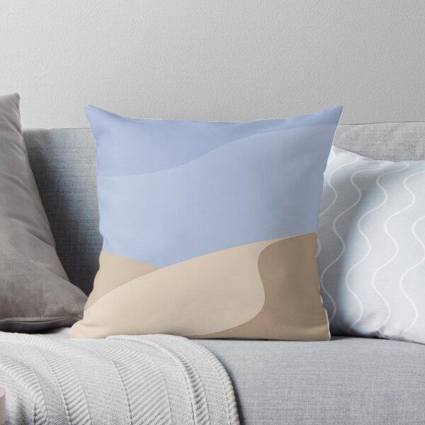Minimalist yellow Sand Dune Desert Throw Pillow
