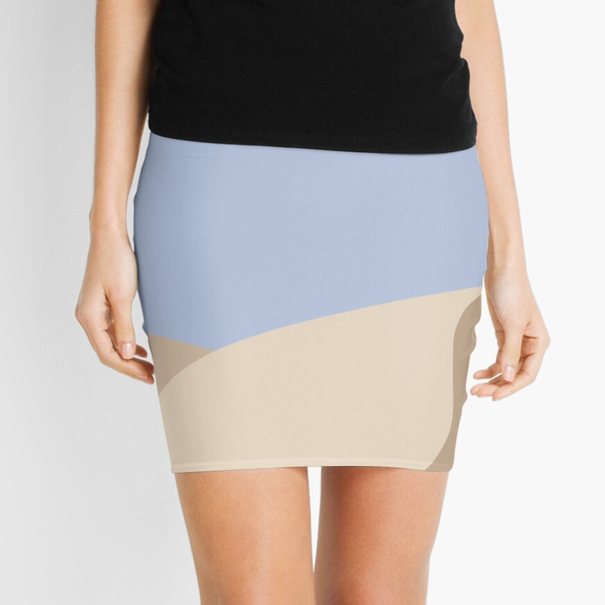 Minimalist yellow Sand Dune Desert Mini Skirt