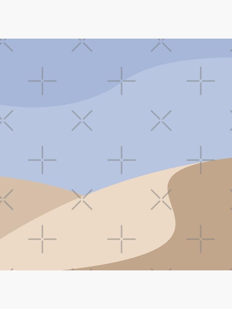 Minimalist yellow Sand Dune Desert by RyanDraws