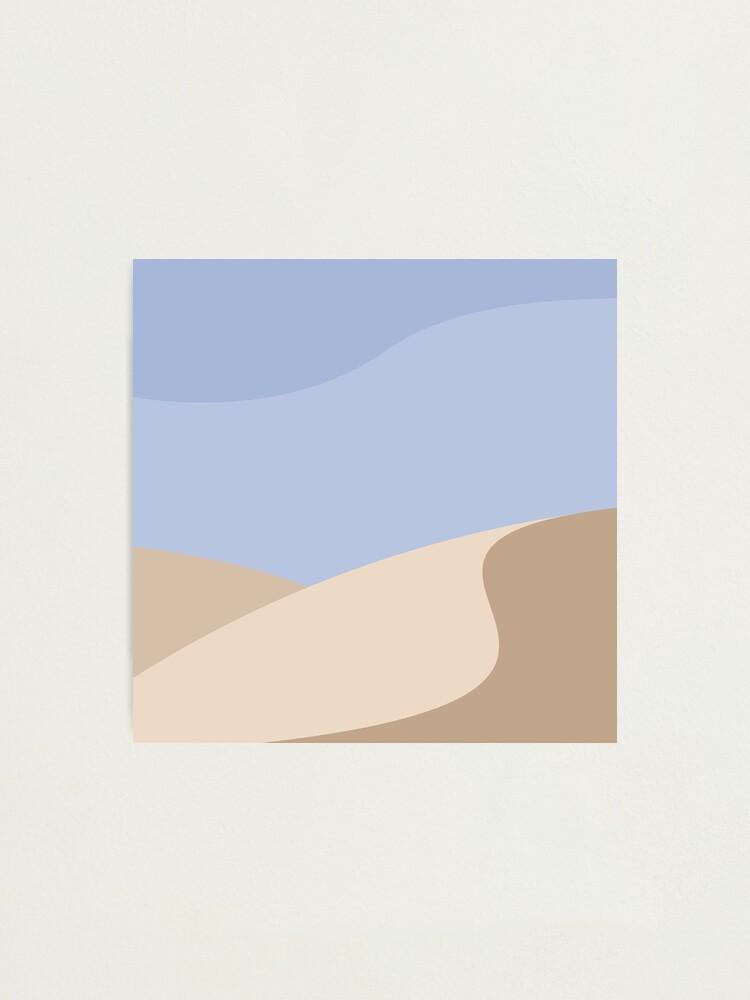 Alternate view of Minimalist yellow Sand Dune Desert Photographic Print