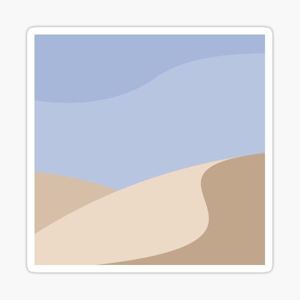 Minimalist yellow Sand Dune Desert Sticker