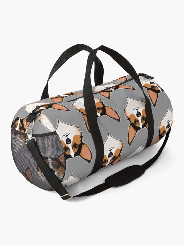 Alternate view of Tri color Corgi Duffle Bag