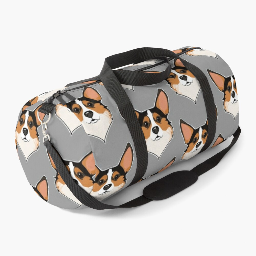 Tri color Corgi Duffle Bag