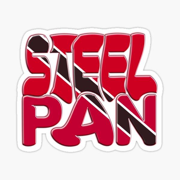 TRINIDAD AND TOBAGO STEEL PAN FLAG Sticker