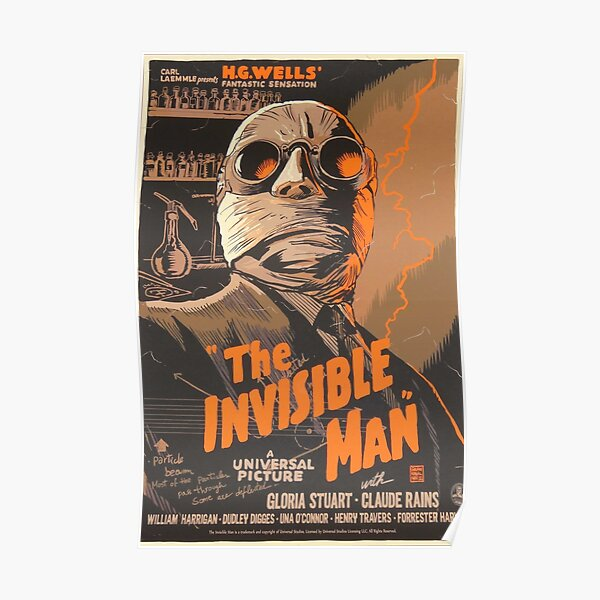 The Invisible Man (1933) Original Movie Poster Poster