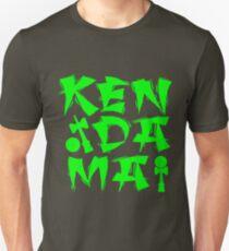 Kendama Block, neon green Slim Fit T-Shirt