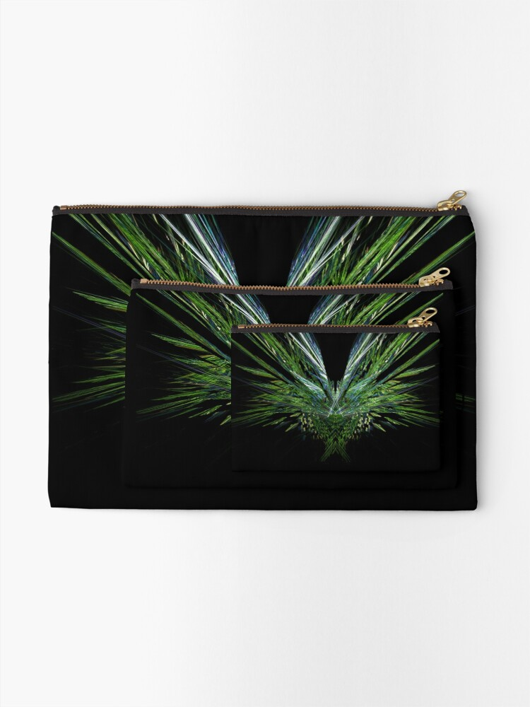 Alternate view of Green Wing Zipper Pouch