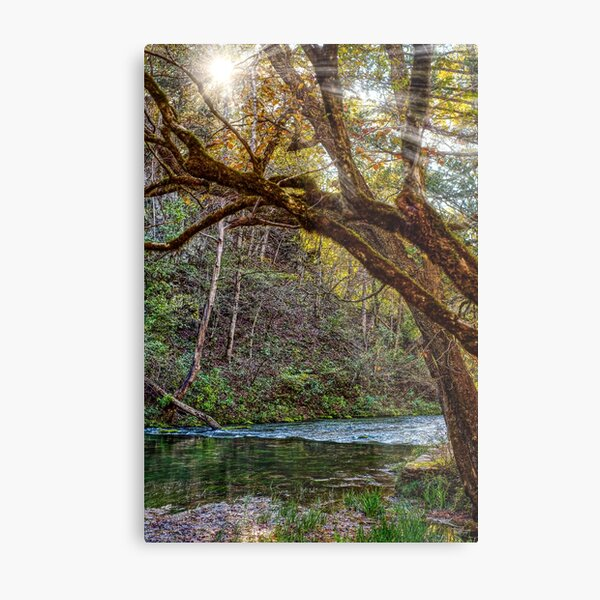 See The Light At Current River Metal Print