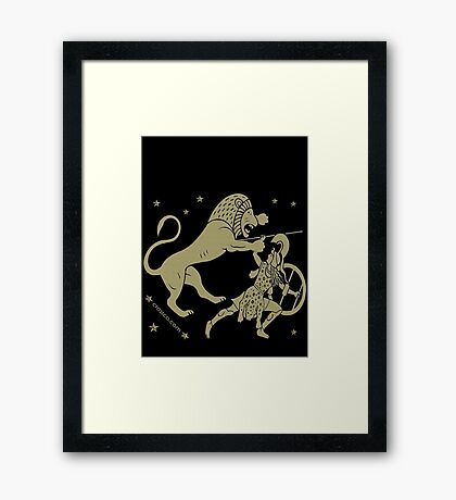 Fight with the lion Framed Print