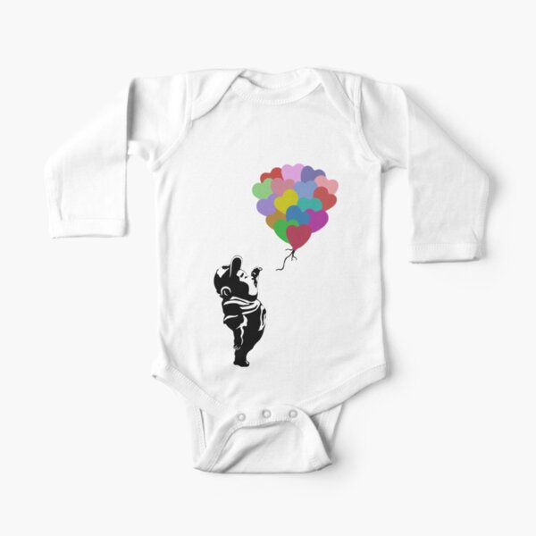 Russell with Balloons Long Sleeve Baby One-Piece