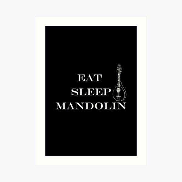 Eat Sleep Mandolin Art Print