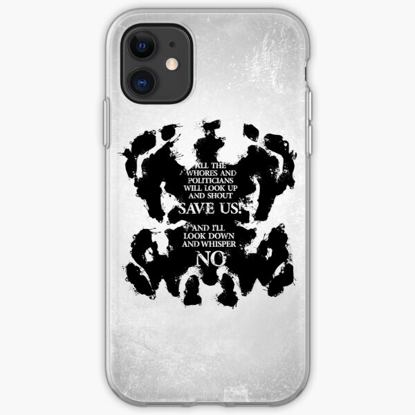 rorschach save us! iPhone Soft Case