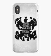 rorschach save us! iPhone Case