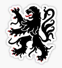 flanders lion sigil Sticker